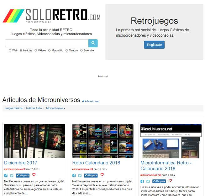 Portal noticias MicroUniversos
