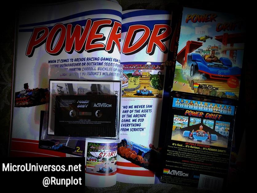 RetroGamer UK 180 y videojuego Power Drift.