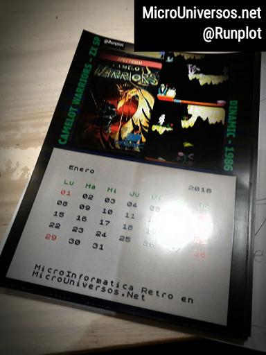 Retro Calendario 2018 Impreso